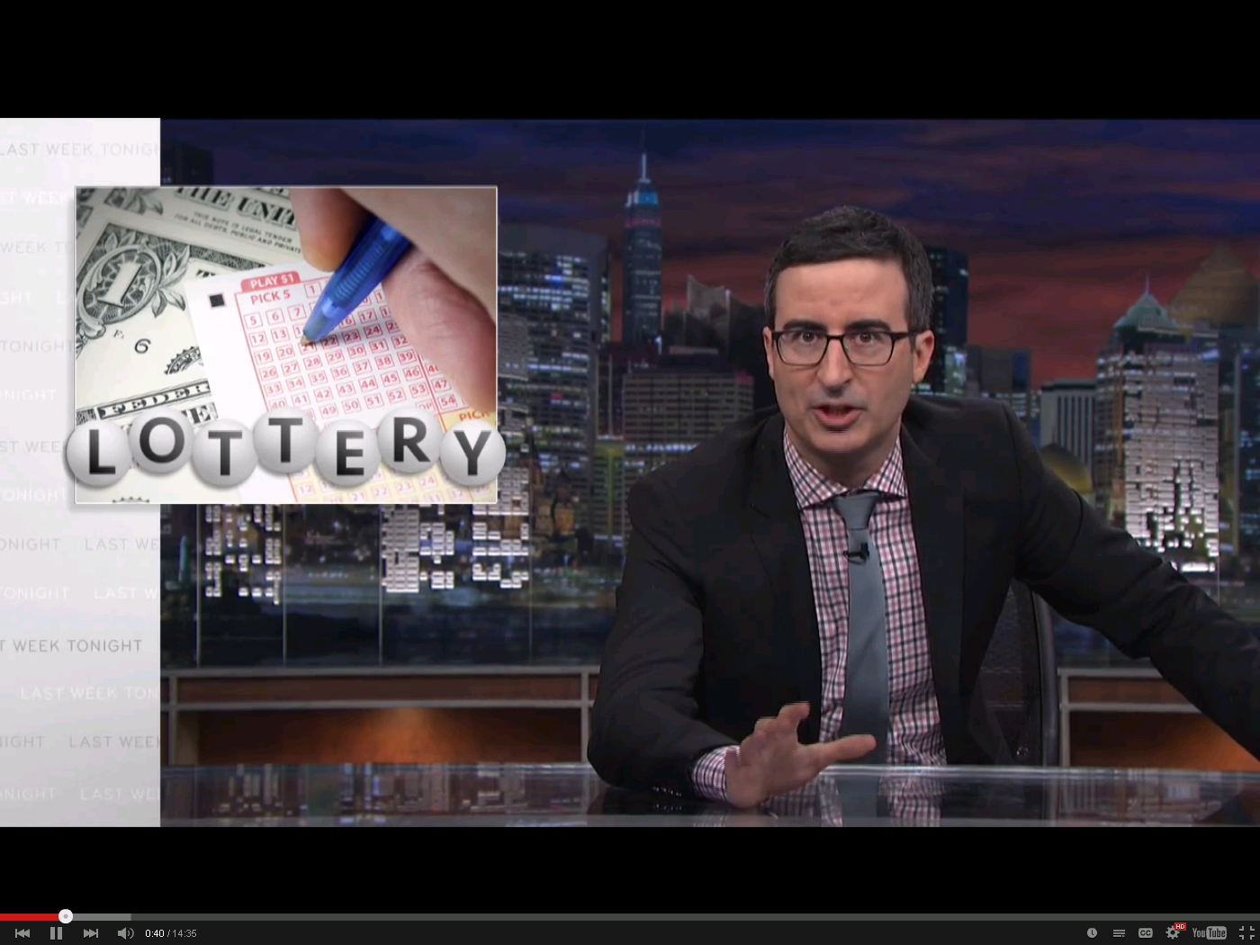 John Oliver Spotlights the Injustice of State Lotteries